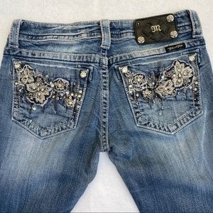 Miss Me distressed boot cut crystal sequins jeans
